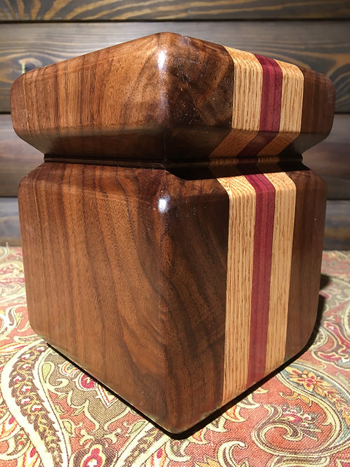 "Unique Solid Wood ""Jar"""