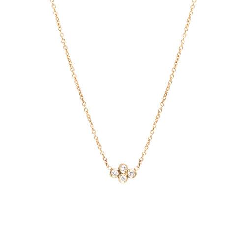 14k small horizontal quad diamond necklace providence diamond 14k gold small horizontal quad necklace with 2pt white diamonds specifics 16 14k tiny cable chain diamond pendant is 7 x 5 mm diamonds 08 ctw mozeypictures Choice Image