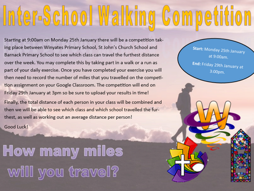 Inter-School Walking Competition!