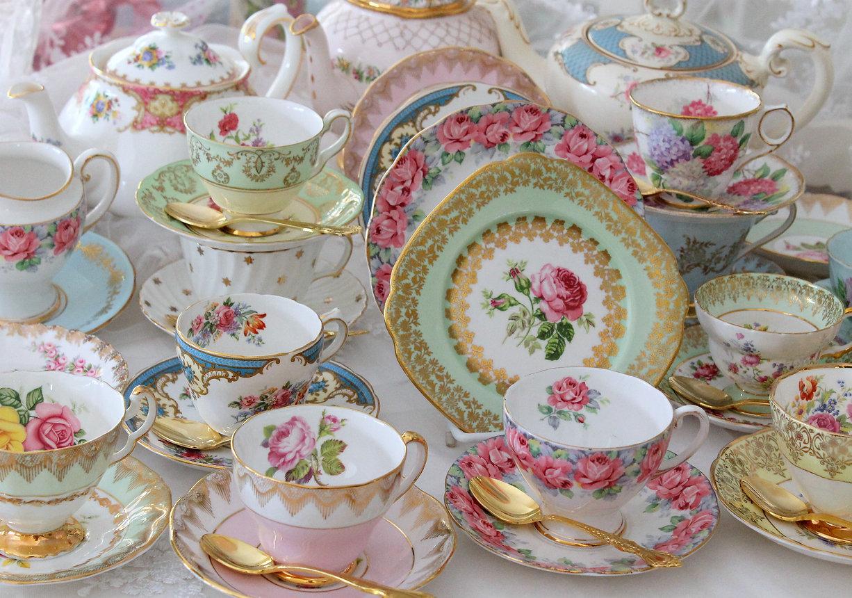 Vintage fine china tea cups and tea sets - tea party.jpg
