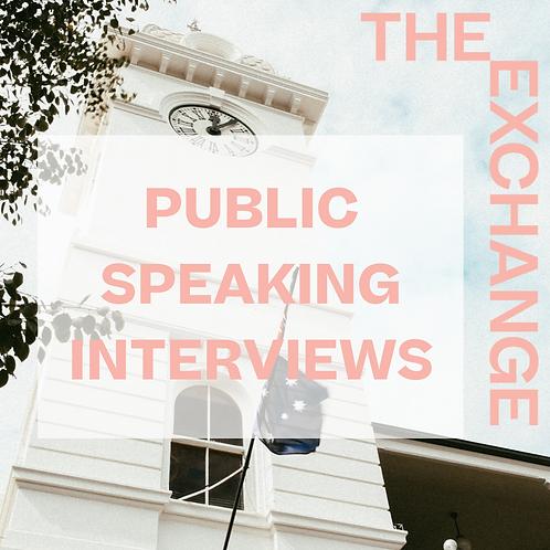 Public Speaking Interview Guide