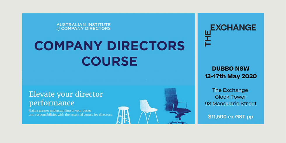 The AICD Company Directors Course (5 days) EOI