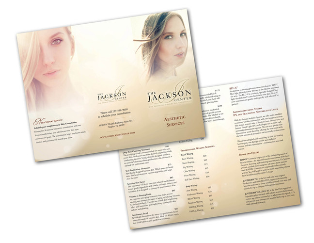 New Tri-Fold Brochure for The Jackson Center, Naples, FL