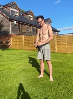 Byron on grass