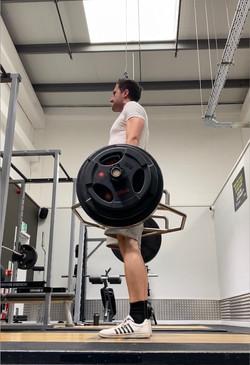 Byron lifting weights