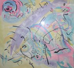 watercolor inprovisation 36inx38in
