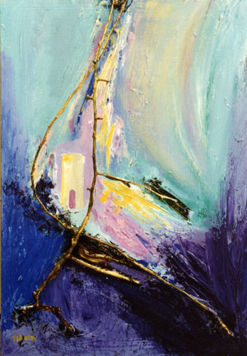 the sail mixed media 18x24