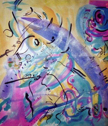 inproviseation 3 water color 15inx19in