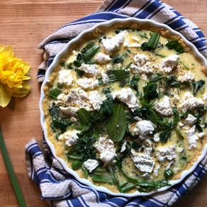 Spring Greens Egg Tart
