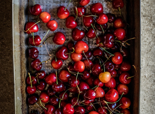 Cherry and Mahlab Oat Bars