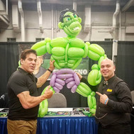 Lou Ferrigno with his Hulk