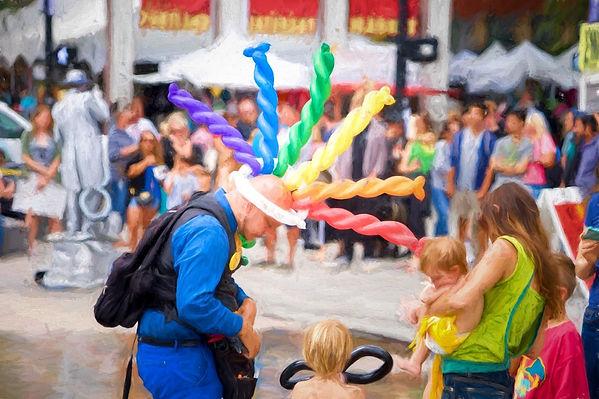PDX Balloons Portland Ballon Artist Saturday Market