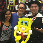 Tom Kenny Spongbob Balloon Art PDX Balloons