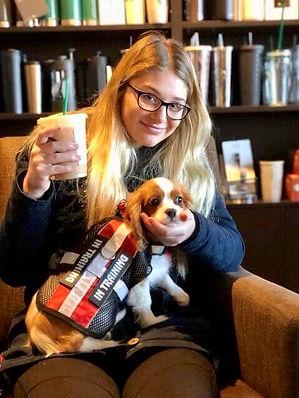 Servce dog with child handler