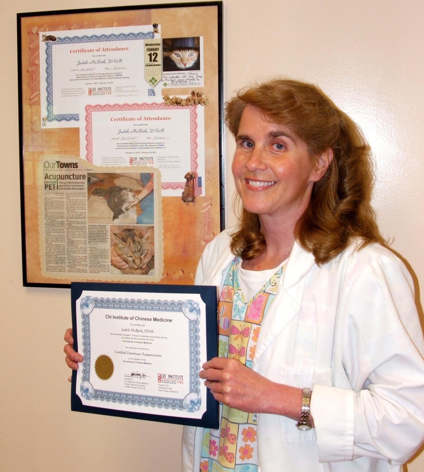 Dr Judy McBeth  and her CVA diploma