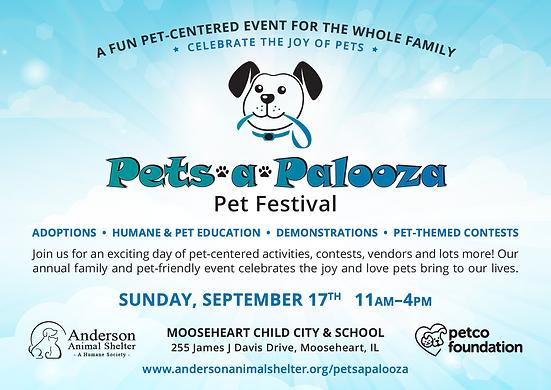 Pets a Palooza Pet Festival info