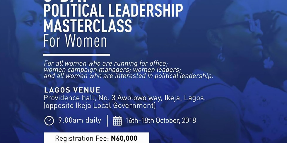 3 DAY POLITICAL LEADERSHIP MASTERCLASS FOR WOMEN
