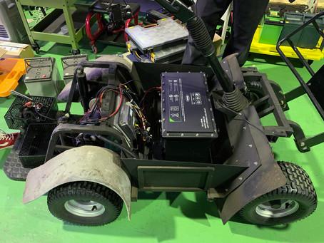 立ち乗り電動ゴルフカート 実装テスト その1