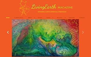 Living Earth Magazine painting