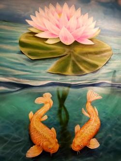 Double Koi Lotus
