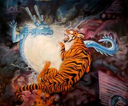 Dragon tiger battle