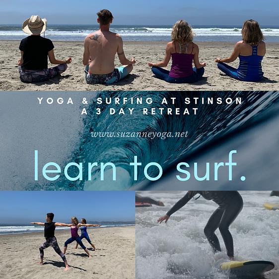 Yoga & Surfing at Stinson a 3 day retrea
