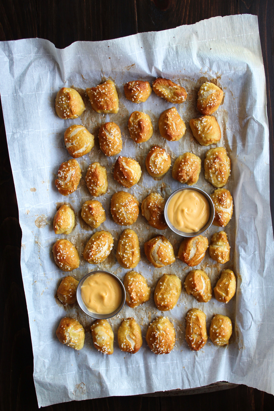 Pretzel Nuggets with Whiskey Cheese