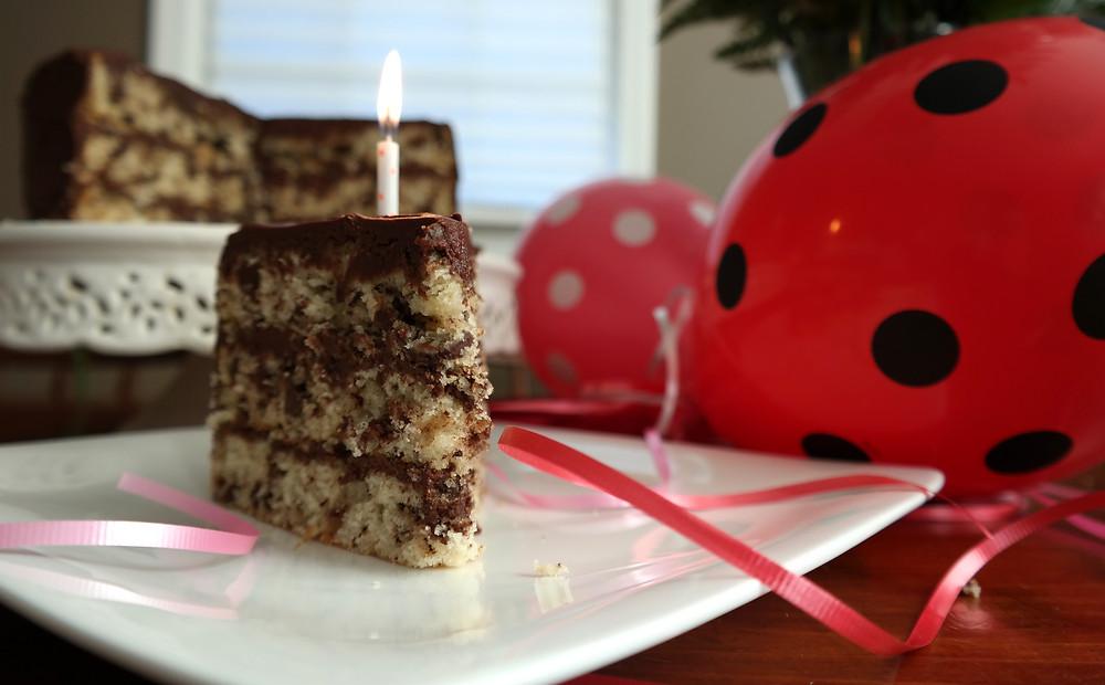 Milk Chocolate Chip Birthday Cake! With Buttercream Frosting | eatlovegarlic.com @eatlovegarlic
