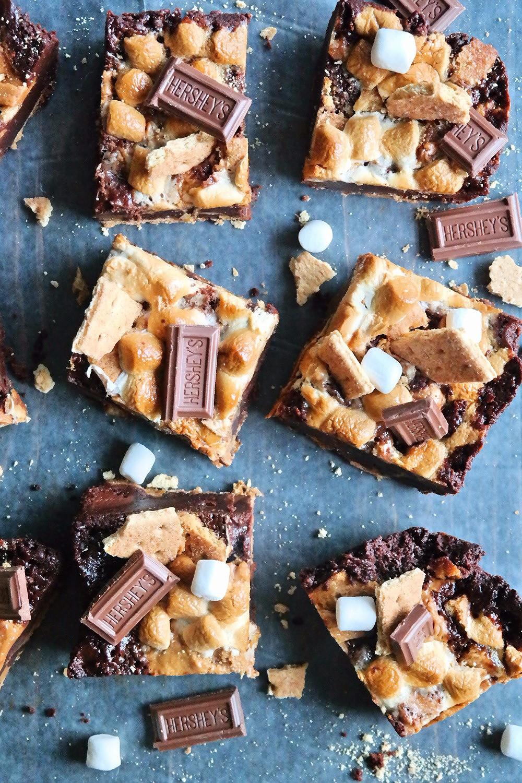 Peanut Butter S'more Brownies | eatlovegarlic.com @eatlovegarlic
