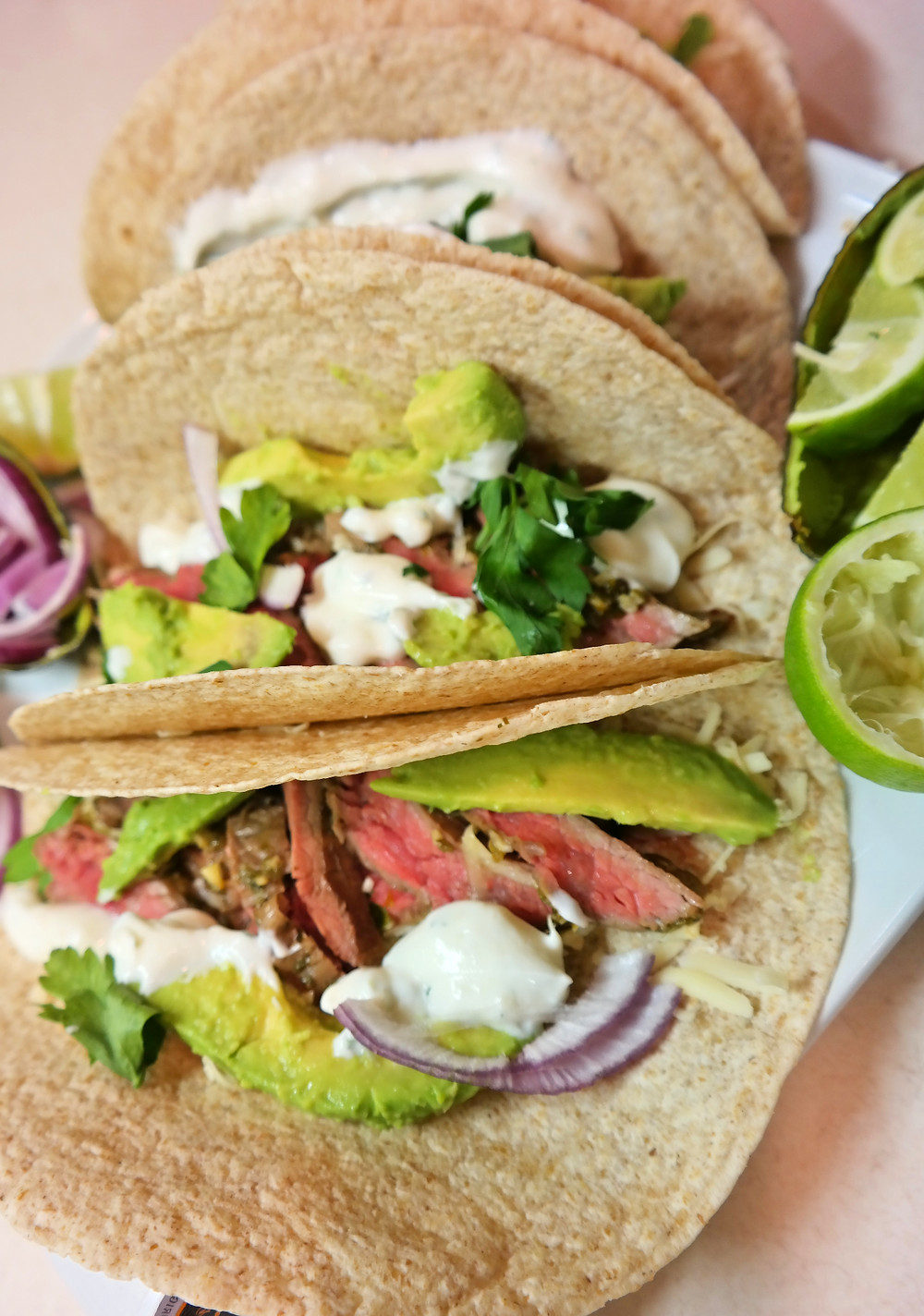 Garlic-Lime, Steak Fajitas with Avocado | eatlovegarlic @eatlovegarlic