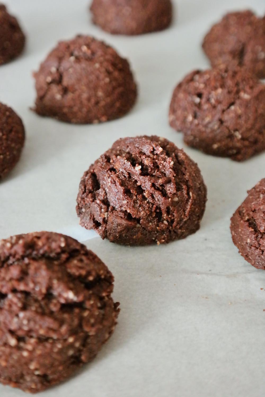 Chocolate Almond Butter Cookies | eatlovegarlic.com @eatlovegarlic