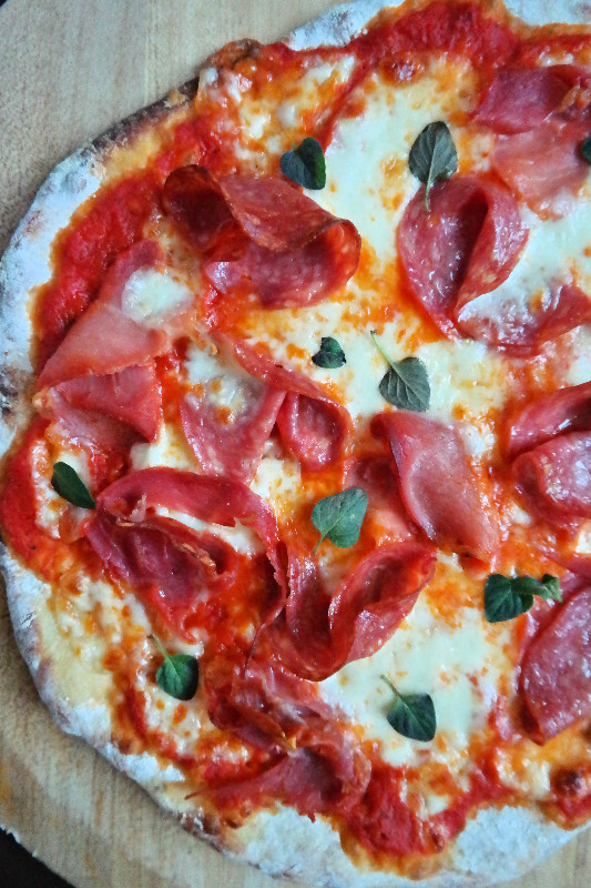 la Pizza Salata | eatlovegarlic.com @eatlovegarlic