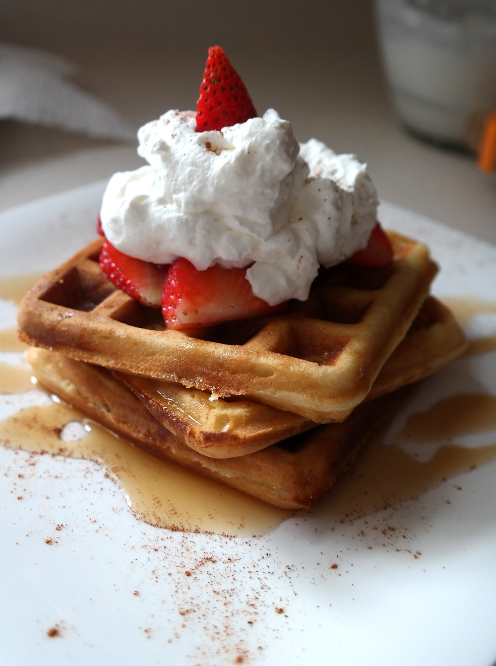 Jazzing up Boxed Waffle Mix | eatlovegarlic.com @eatlovegarlic