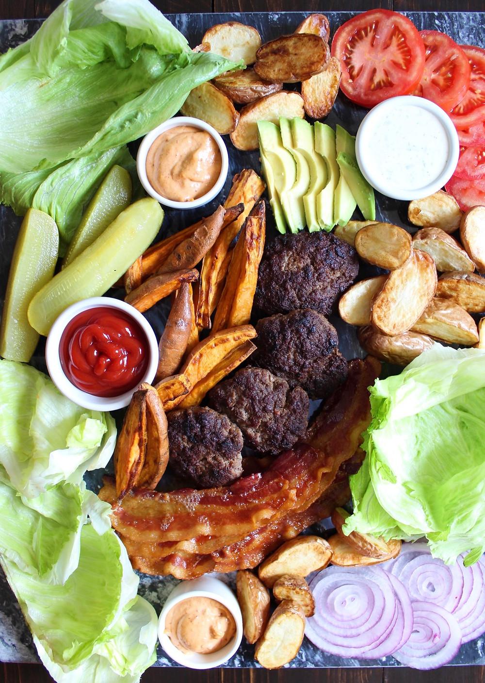 Burger Board | eatlovegarlic.com