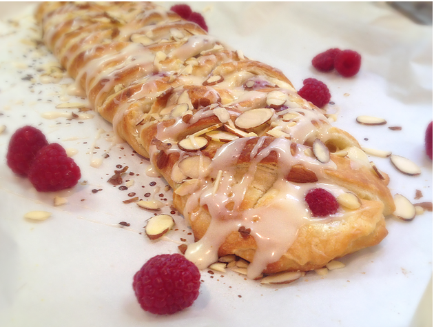 Flaky Raspberry Cheese Danish