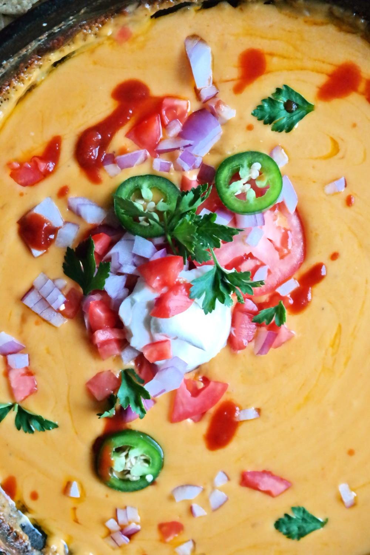 Spicy Queso Dip | eatlovegarlic.com @eatlovegarlic