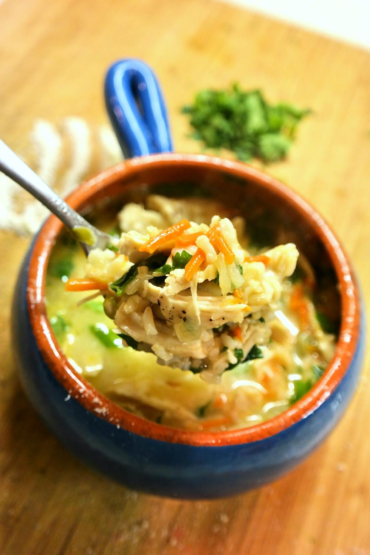 Parmesan-Chicken and Rice Soup | eatlovegarlic.com @eatlovegarlic