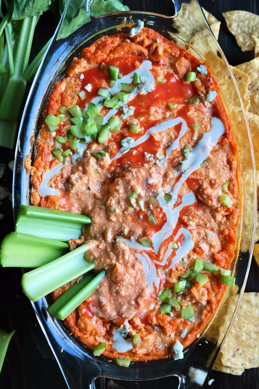 "Vegetarian Buffalo ""Chicken"" Dip | eatlovegarlic.com @eatlovegarlic"