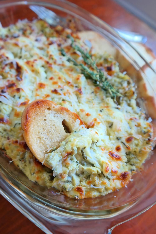 Spinach & Artichoke Dip | eatlovegarlic.com @eatlovegarlic