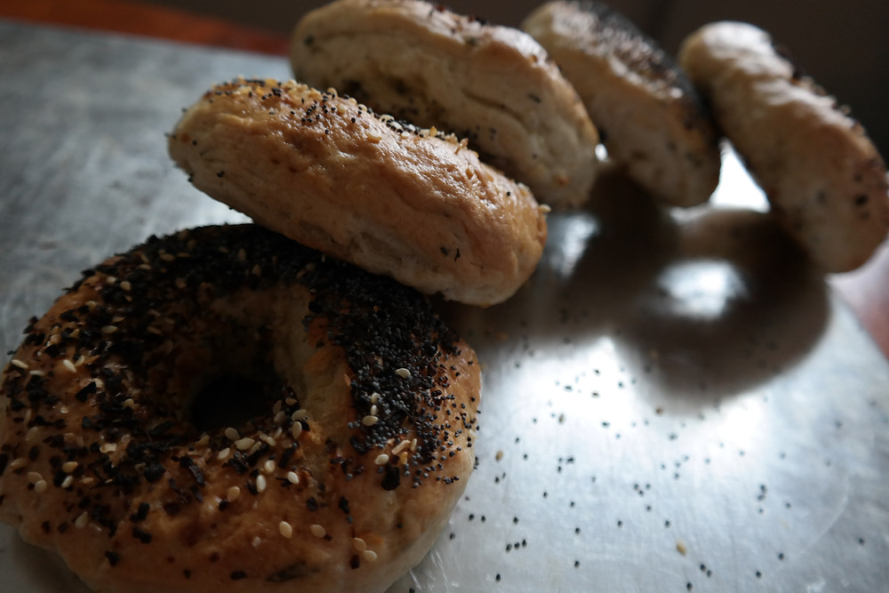 Garlic and Chive Bagels (45 minute rise time) | eatlovegarlic @eatlovegarlic