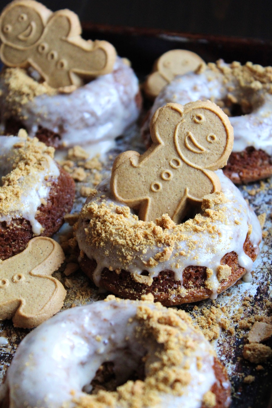 Frosted Gingerbread Donuts