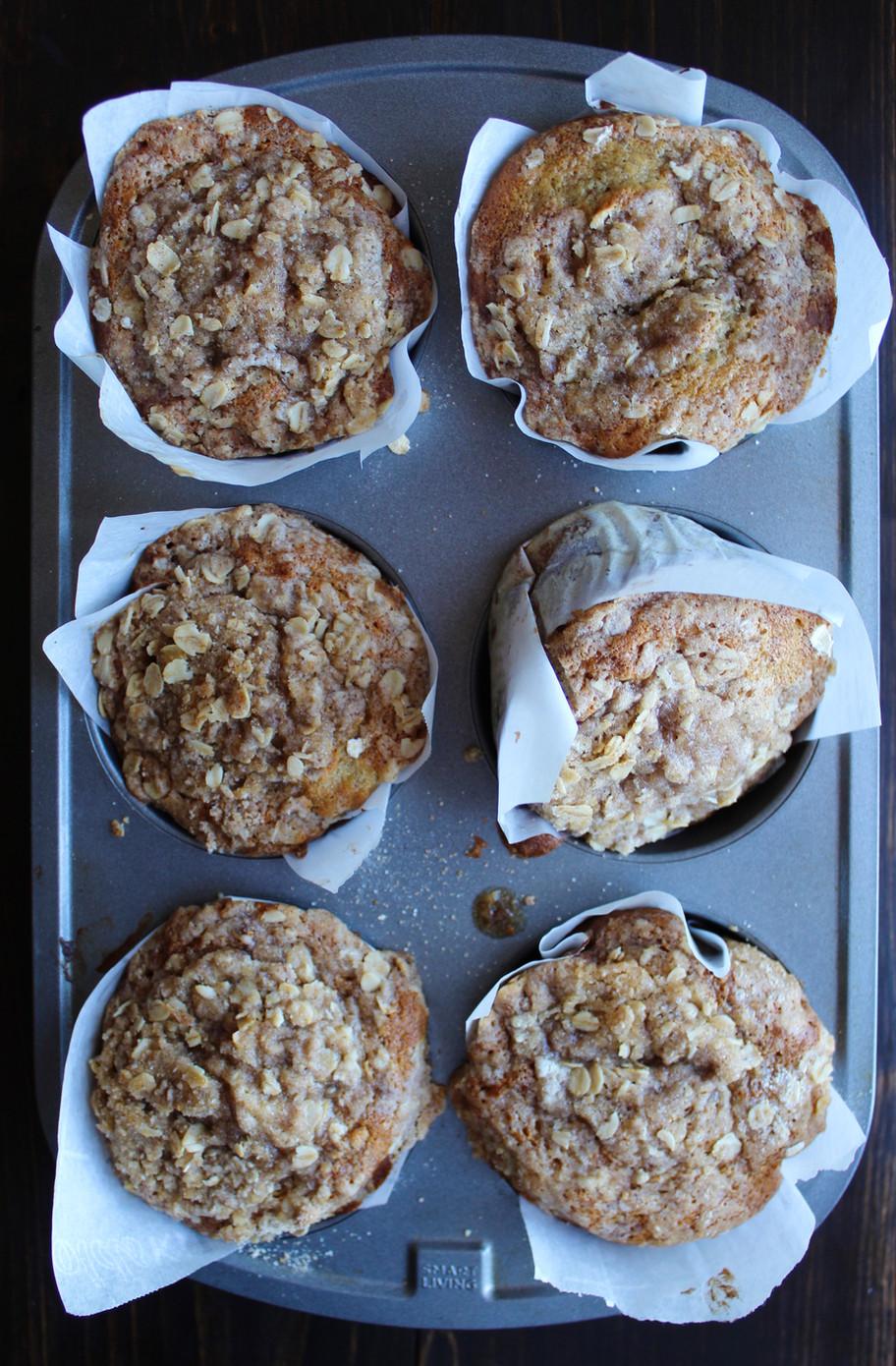 Banana Oat Coffee Cake Muffins