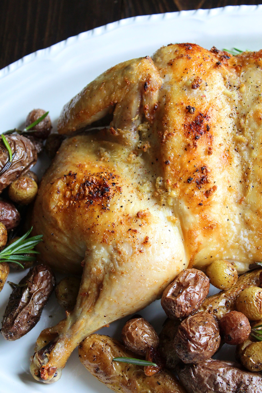 Whole Roasted Garlic Chicken | eatlovegarlic.com
