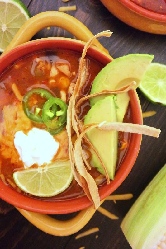 Spicy Mexican Tortilla Soup | eatlovegarlic.com @eatlovegarlic