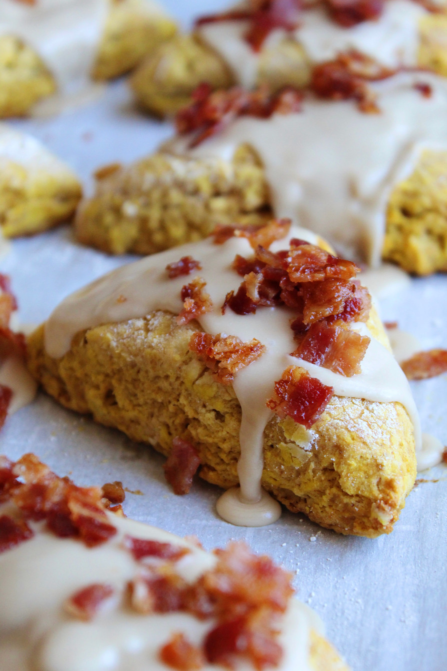 Maple Bacon Pumpkin Scones