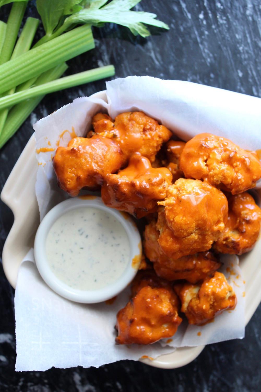 Hot Garlic Cauliflower Wings | eatlovegarlic.com