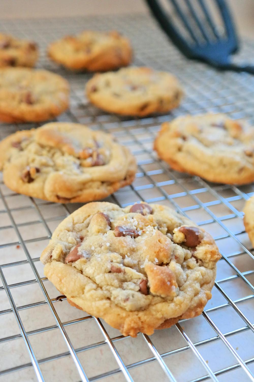 Perfect {salted} Milk Chocolate Chip Cookies | eatlovegarlic.com @eatlovegarlic