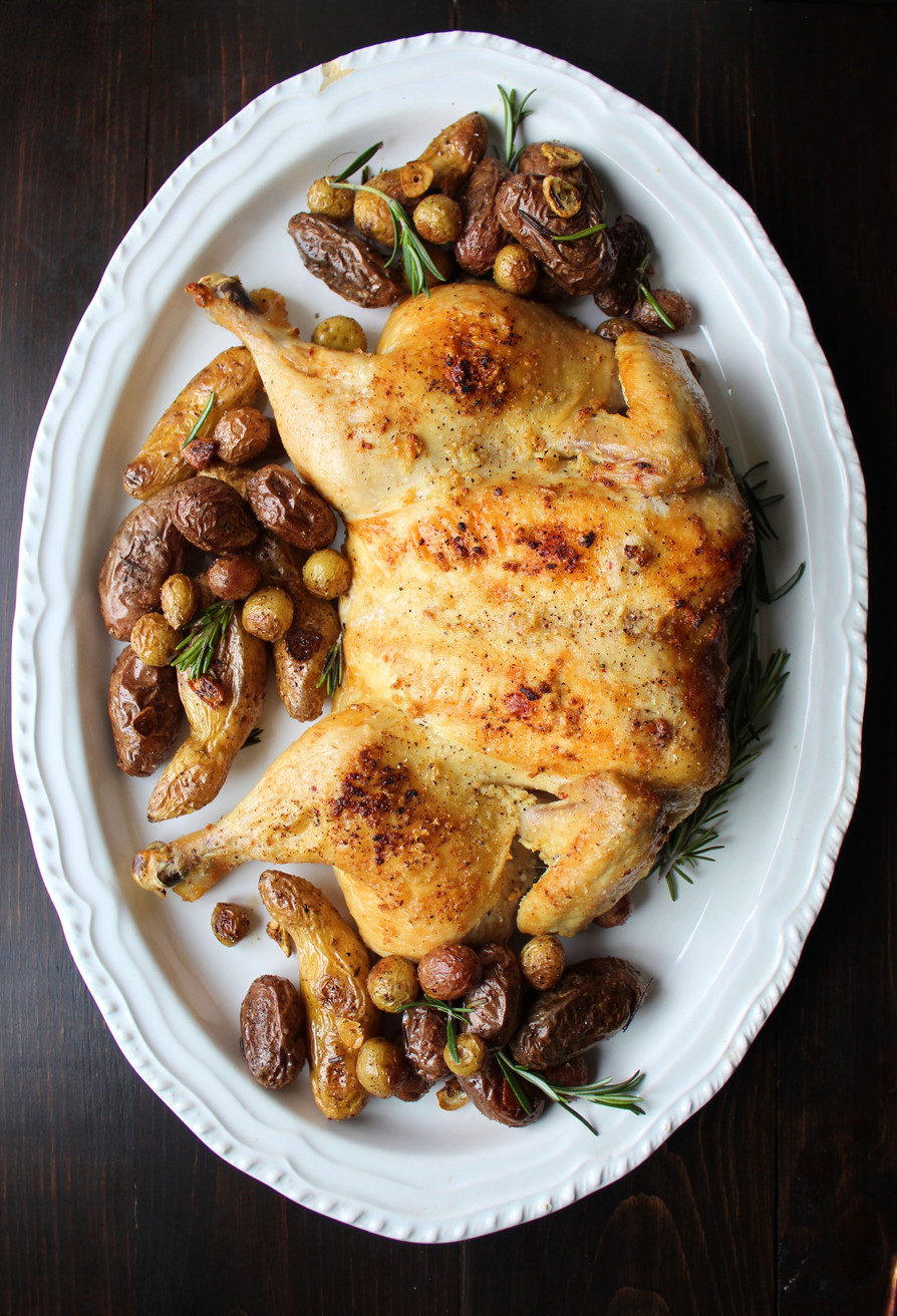Whole Roasted Garlic Chicken