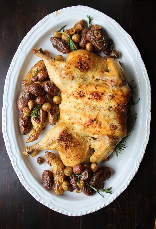 Whole Roasted Garlic Chicken