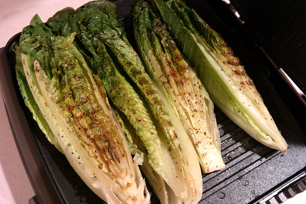 Grilled Romaine with a Light Caesar Dressing